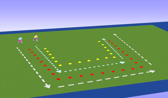 Hockey Session Plan Drill (Colour): Carry it!