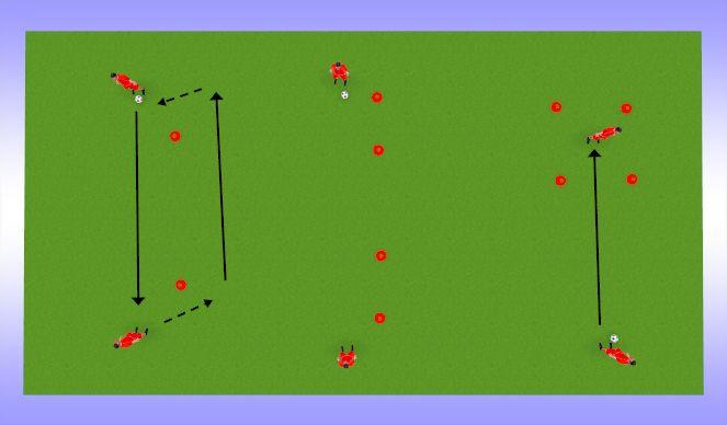Football/Soccer Session Plan Drill (Colour): esimene puude+söötmine