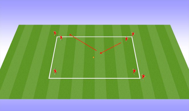 Football/Soccer Session Plan Drill (Colour): Dribbling Skills
