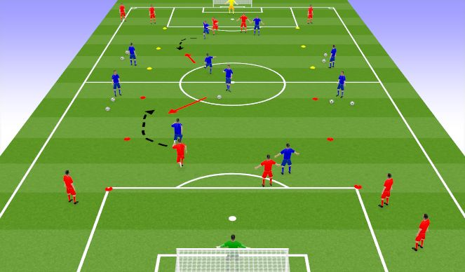 Football/Soccer Session Plan Drill (Colour): TR2