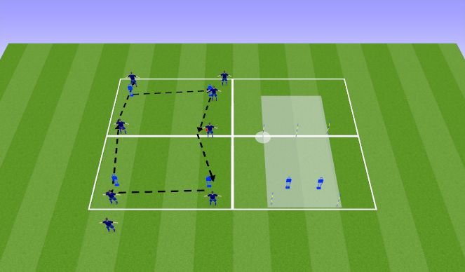 Football/Soccer Session Plan Drill (Colour): Activation