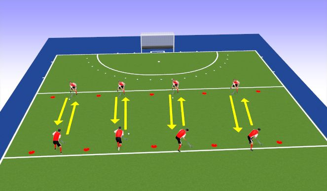 Hockey Session Plan Drill (Colour): Passing