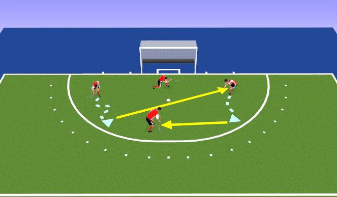 Hockey Session Plan Drill (Colour): Name Game
