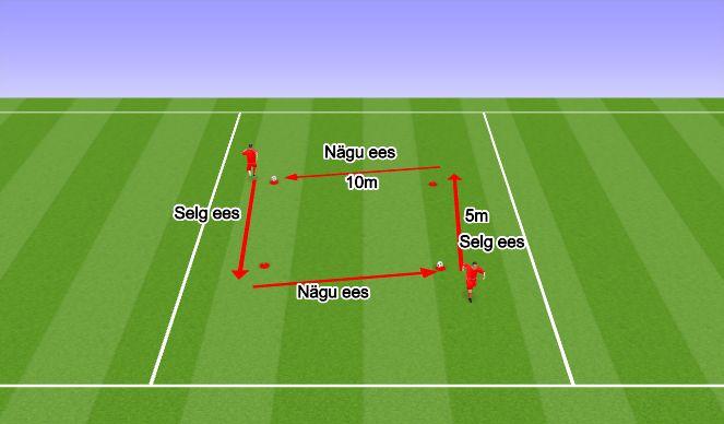Football/Soccer Session Plan Drill (Colour): Harjutus I