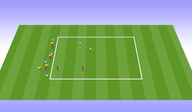 Football/Soccer Session Plan Drill (Colour): Tag