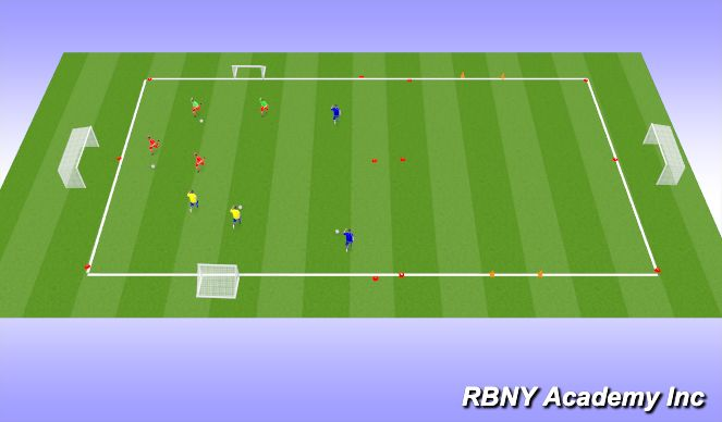 Football/Soccer Session Plan Drill (Colour): Main Act.