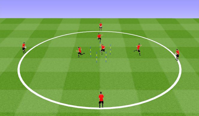 Football/Soccer Session Plan Drill (Colour): Pair Work