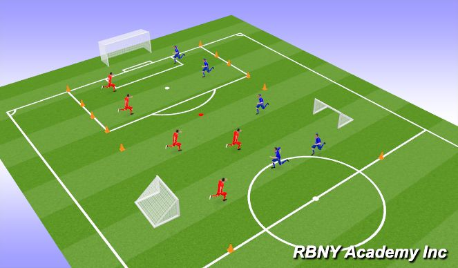 Football/Soccer Session Plan Drill (Colour): Drop In Games