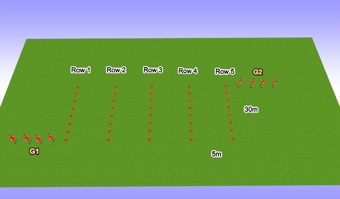Football/Soccer Session Plan Drill (Colour): Warm Up Variation 4