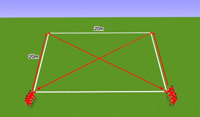 Football/Soccer Session Plan Drill (Colour): Warm Up Variation 12