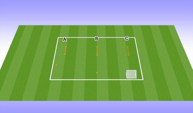 Football/Soccer Session Plan Drill (Colour): Ladder Work