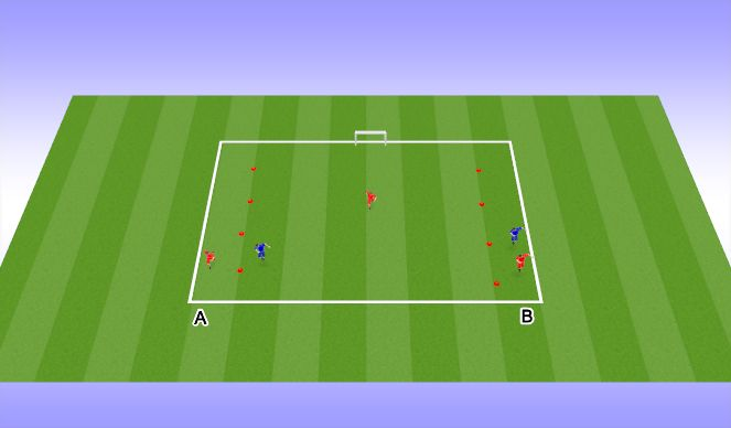 Football/Soccer Session Plan Drill (Colour): Create Space to Cross