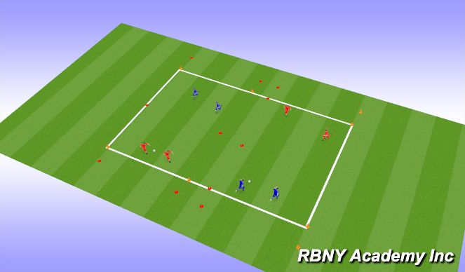 Football/Soccer Session Plan Drill (Colour): Endzone