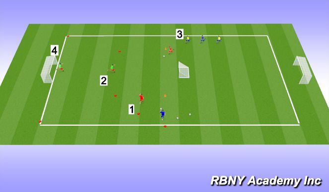 Football/Soccer Session Plan Drill (Colour): Storm