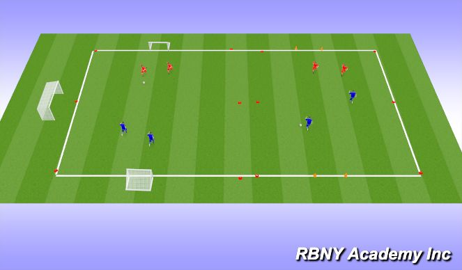 Football/Soccer Session Plan Drill (Colour): Drop-In Games