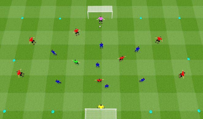 Football/Soccer Session Plan Drill (Colour): Game: 8v8+1