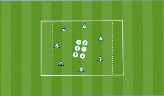 Football/Soccer Session Plan Drill (Colour): Dribbling/Passing warm-up