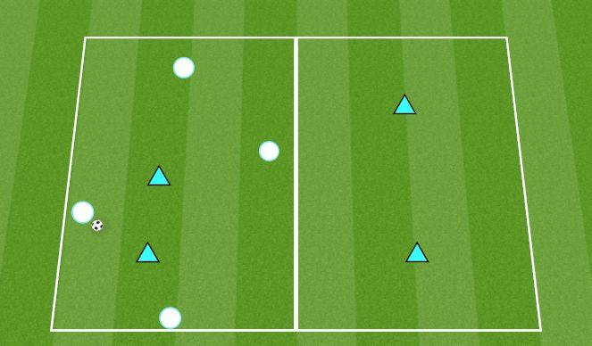 Football/Soccer Session Plan Drill (Colour): 4v2(+2) Rondos