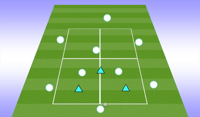 Football/Soccer Session Plan Drill (Colour): Rondo for Positional Play