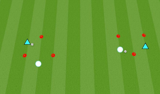 Football/Soccer Session Plan Drill (Colour): Triangles Game