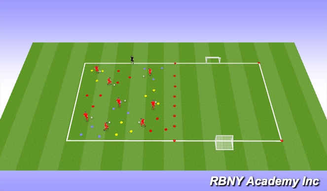 Football/Soccer Session Plan Drill (Colour): Introduction Activity