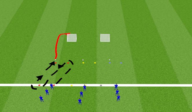 Football/Soccer Session Plan Drill (Colour): Opwarming 3
