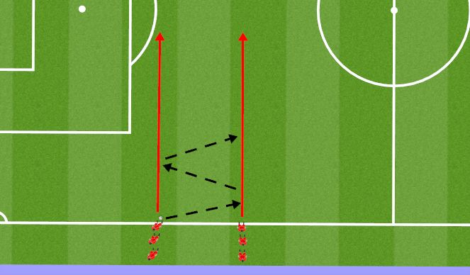 Football/Soccer Session Plan Drill (Colour): Opwarming 5