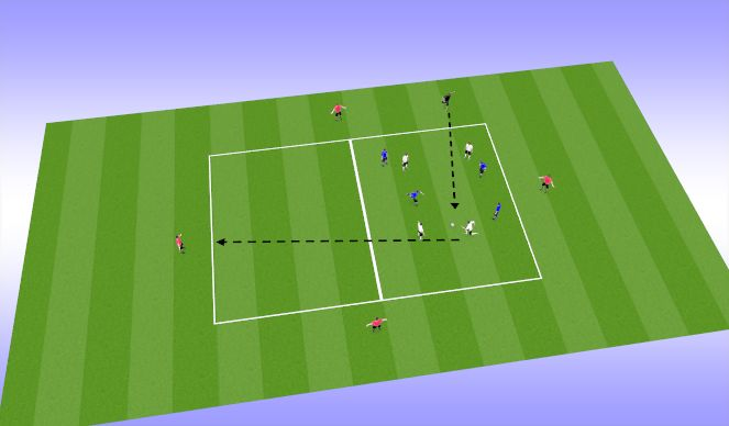Football/Soccer Session Plan Drill (Colour): Possession & Switching the POA