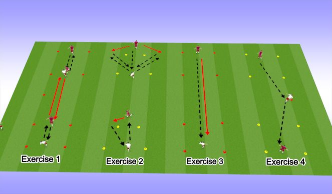 Football/Soccer Session Plan Drill (Colour): passing reps