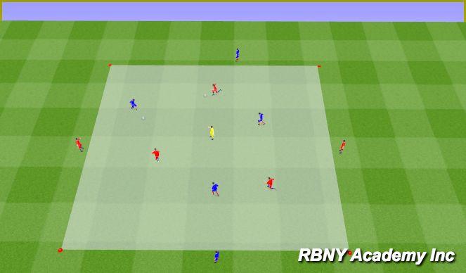Football/Soccer Session Plan Drill (Colour): Main