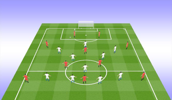 Football/Soccer Session Plan Drill (Colour): Pressing Trap_2