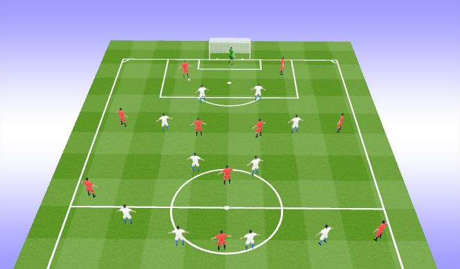 Football/Soccer Session Plan Drill (Colour): Pressing Trap_1