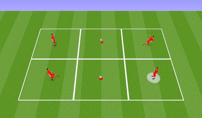 Football/Soccer Session Plan Drill (Colour): Partner Skittles