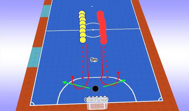 Futsal Session Plan Drill (Colour): Warm-Up