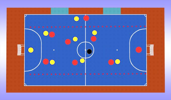 Futsal Session Plan Drill (Colour): Conditioned Game