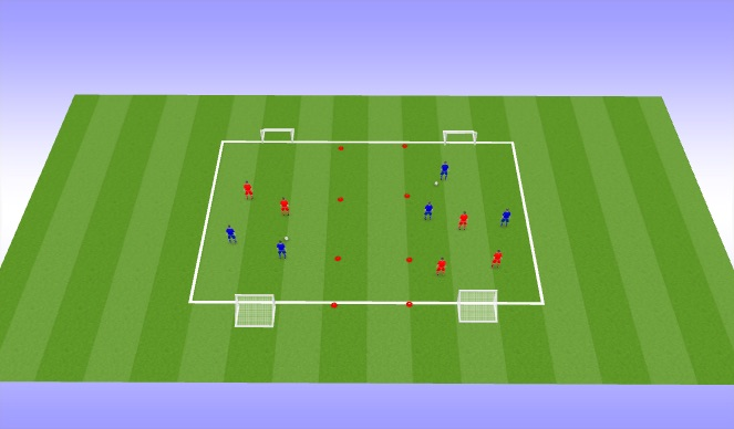 Football/Soccer Session Plan Drill (Colour): Drop In/Introduction