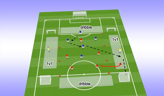 Football/Soccer Session Plan Drill (Colour): SSG 5v5 +2