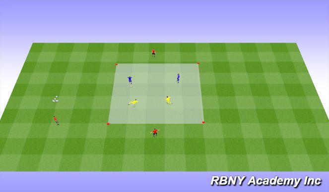 Football/Soccer Session Plan Drill (Colour): Intro - 2v2+2