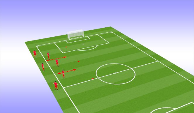 Football/Soccer Session Plan Drill (Colour): Warm-up w/ KV