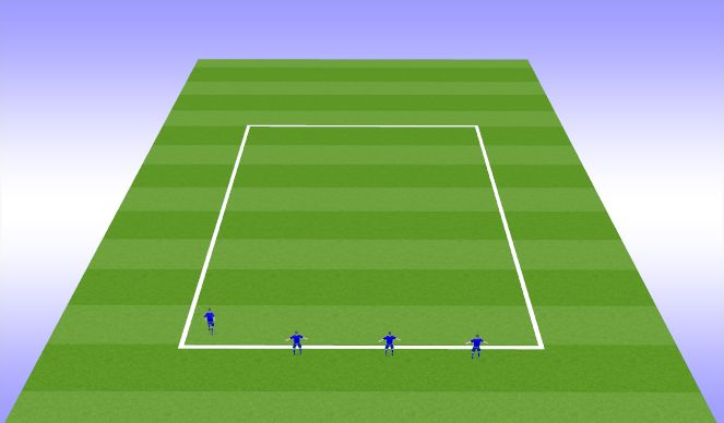 Football/Soccer Session Plan Drill (Colour): Back four work