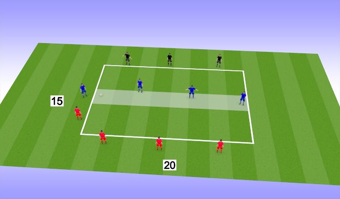 Football/Soccer Session Plan Drill (Colour): Play 4v4+4