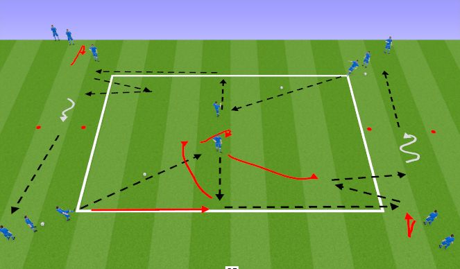 Football/Soccer Session Plan Drill (Colour): Rectangle(1,2)