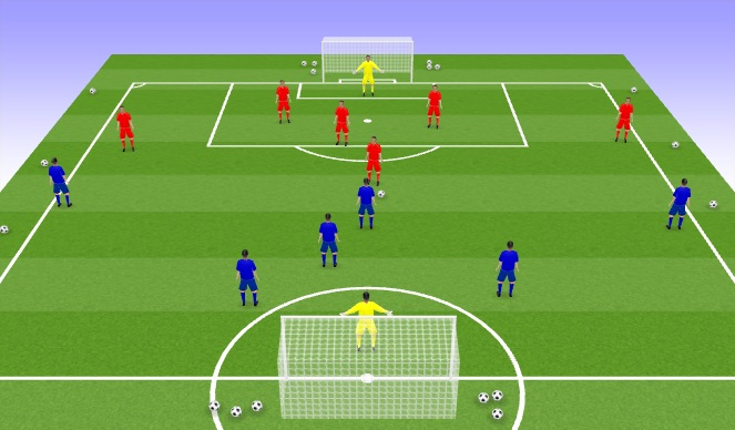 Football/Soccer Session Plan Drill (Colour): AM 2