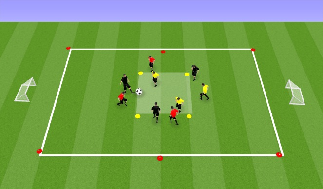 Football/Soccer Session Plan Drill (Colour): Warm Up pt.2