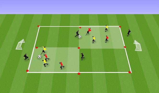 Football/Soccer Session Plan Drill (Colour): Drill 2v2+2
