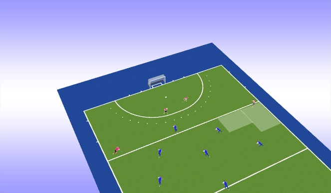 Hockey Session Plan Drill (Colour): Animation 4