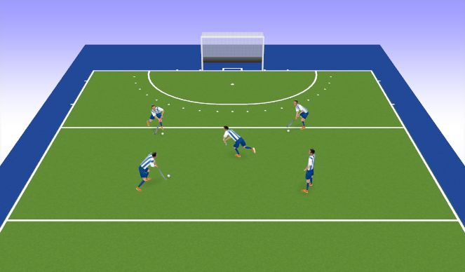 Hockey Session Plan Drill (Colour): Passing Square