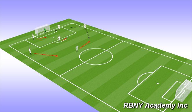 Football/Soccer Session Plan Drill (Colour): Tac