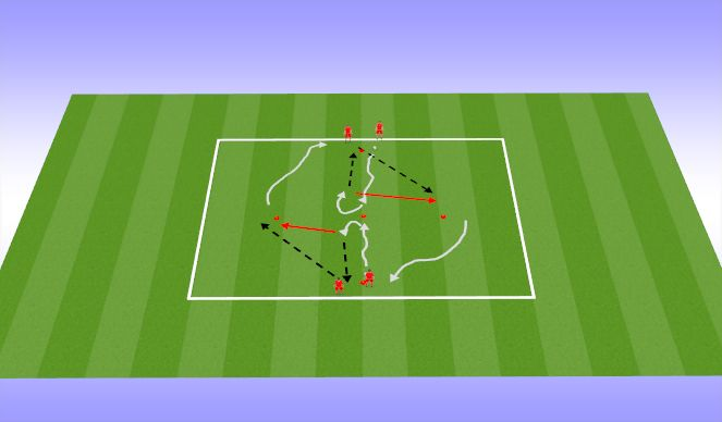 Football/Soccer Session Plan Drill (Colour): Technical (20mins)