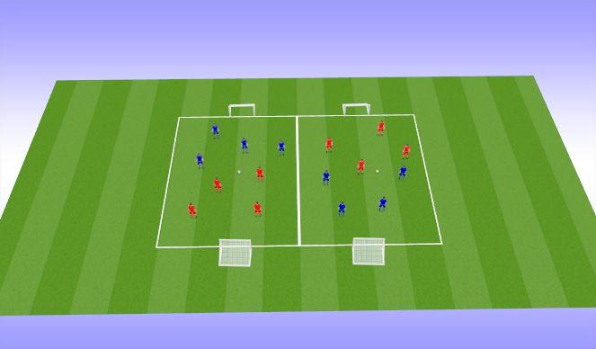 Football/Soccer Session Plan Drill (Colour): Tournament 4v4 (25 mins)